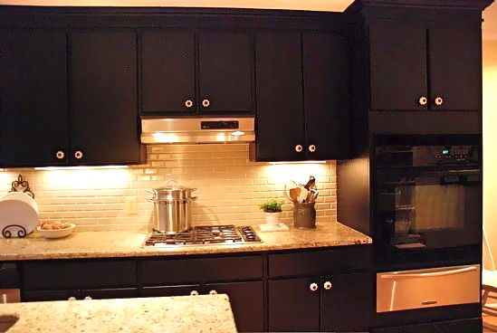 Pictures Of Kitchen Cabinets Painted Black