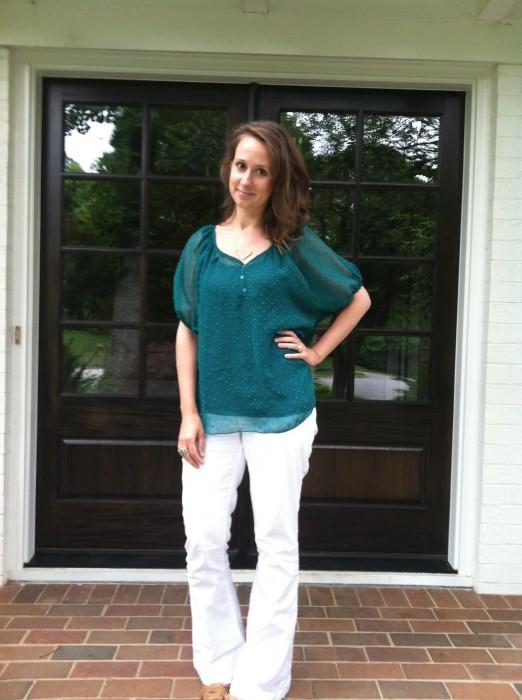 page dolman chiffon dotted blouse