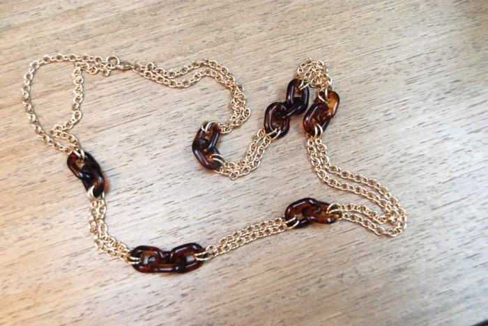 41Hawthorn Tortoise Links Long Chain Necklace