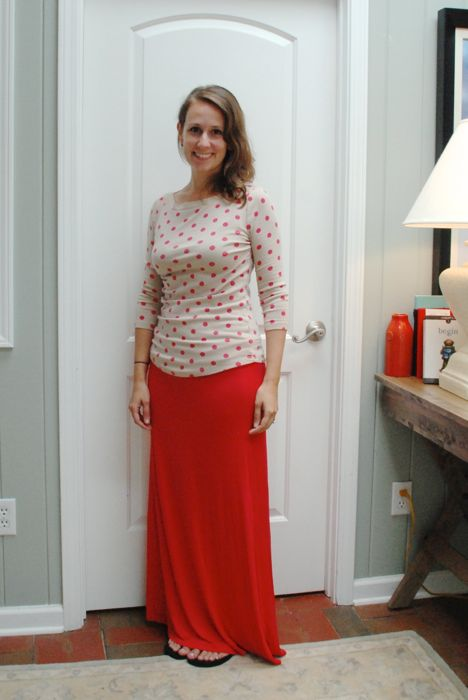 Chris & Carol Josse Foldover Waist Maxi Skirt
