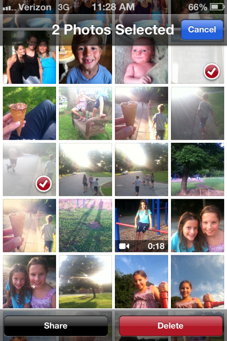 how to delete multiple photos iPhone