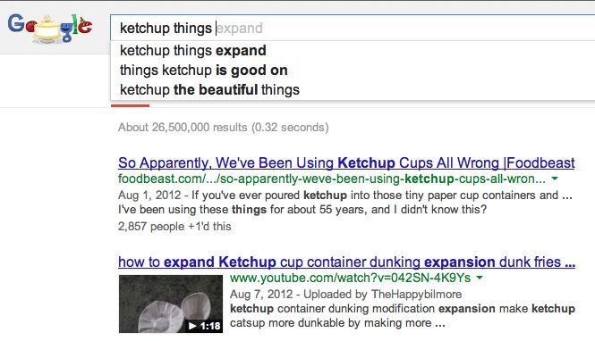 ketchup things expand
