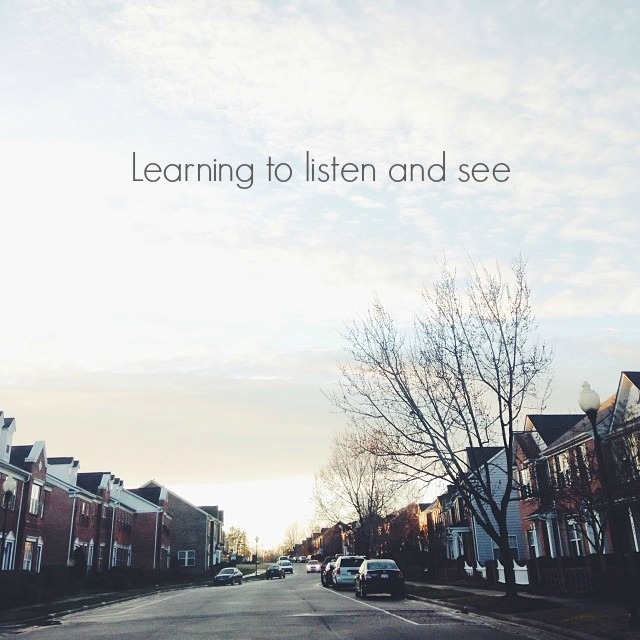 learning to listen and see