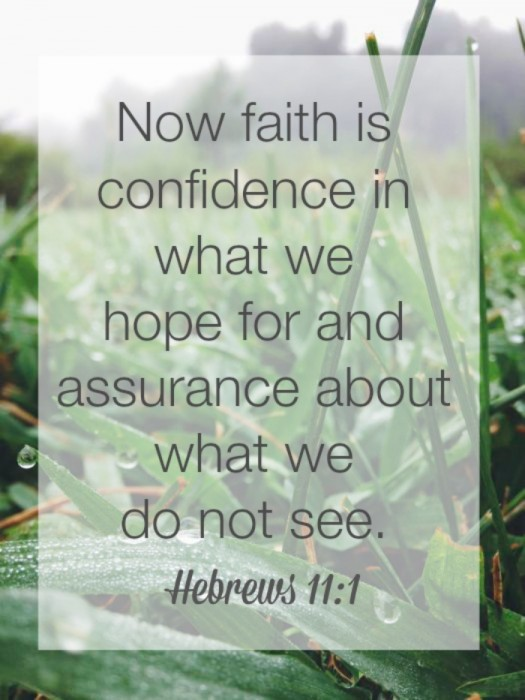 Faith is confidence in what we hope for.
