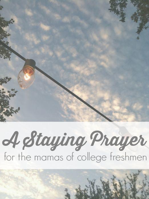 staying prayer for mamas