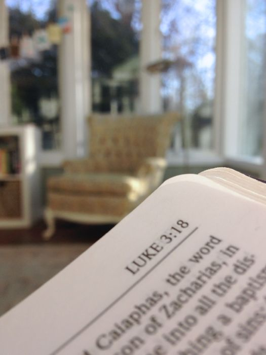 Bible in the Sunroom