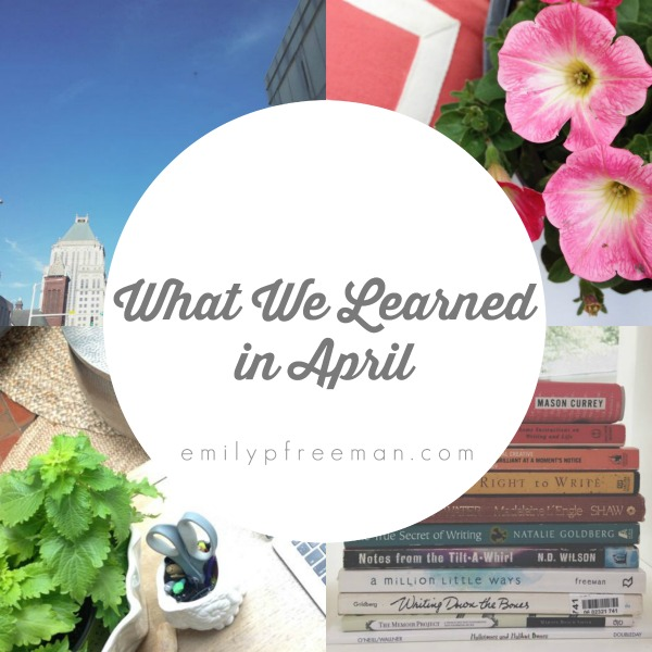 what we learned april 2015