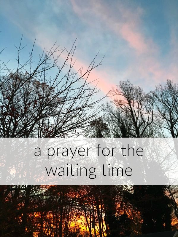 A Prayer for the Waiting Time