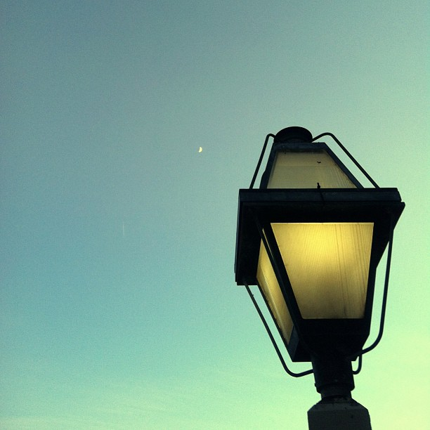 lamp & the moon