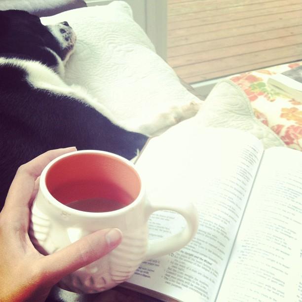 finn and coffee