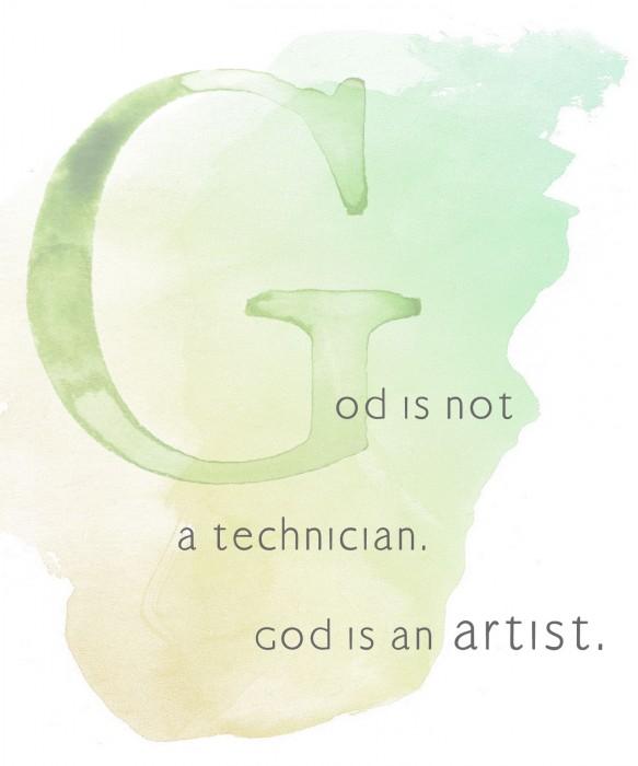 God is not a technician