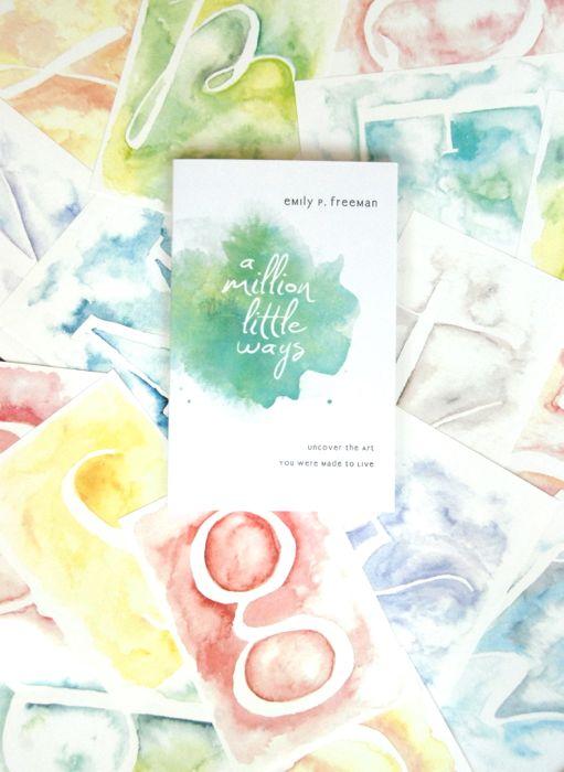 a million little ways watercolor letters
