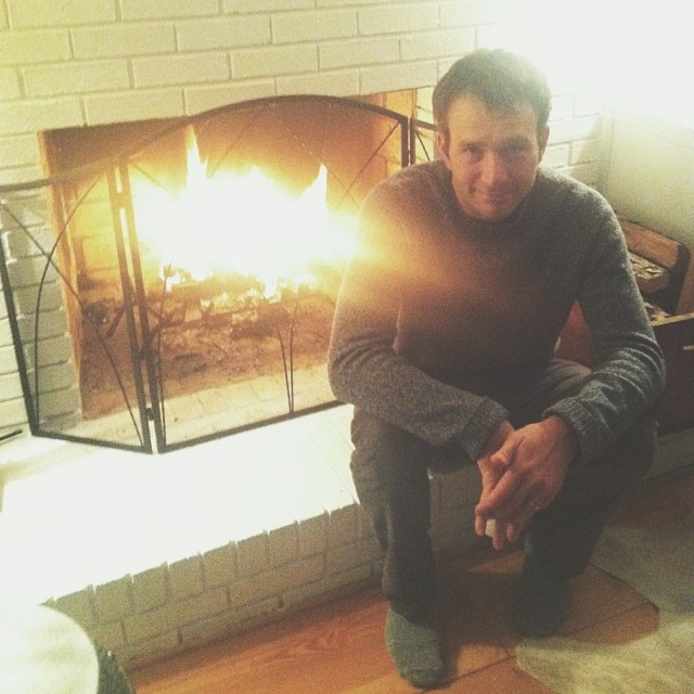 John by the fire