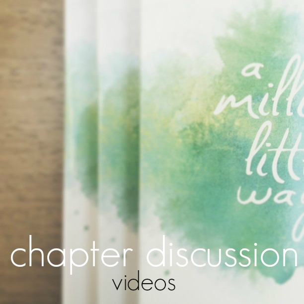 chapter discussion videos for a million little ways