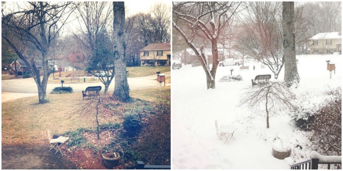 snow before and after
