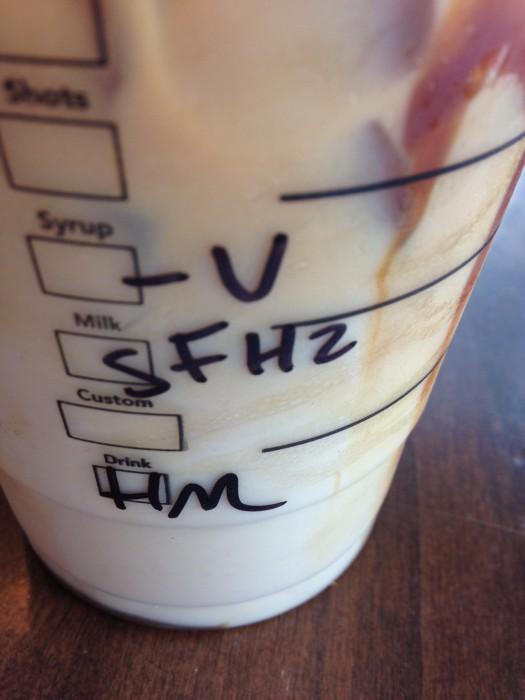 Iced SF Hazelnut Latte