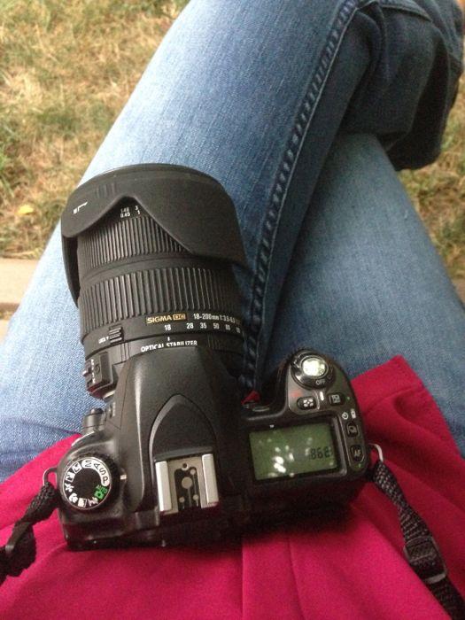 My big camera is too big.
