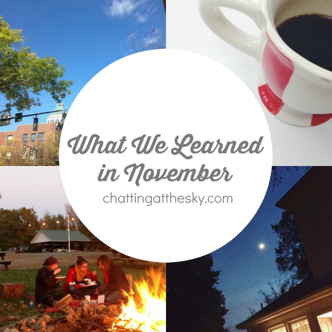 What We Learned November