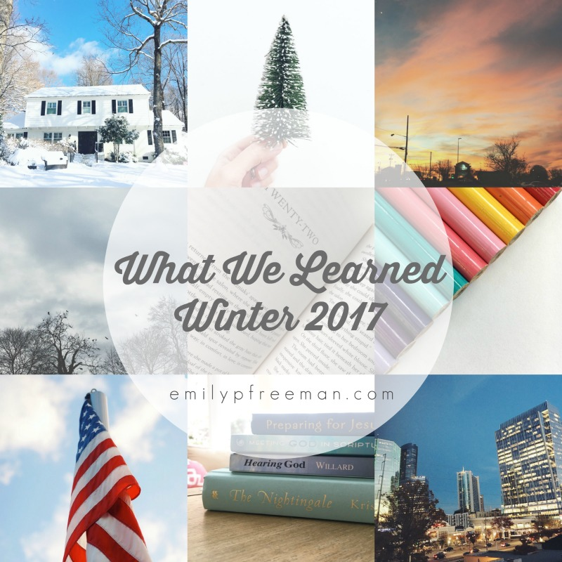 what we learned winter