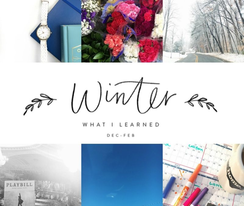 Let's Share What We Learned This Winter