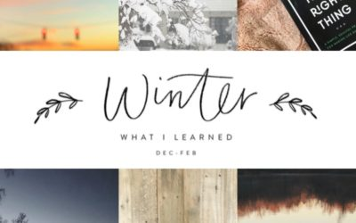 6 Things I Learned This Winter