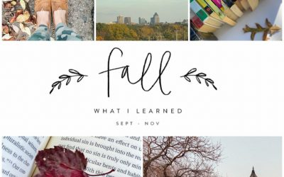8 Things I Learned This Fall