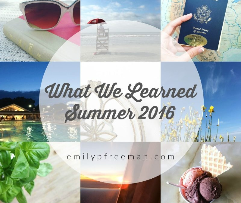 Let's Share What We Learned this Summer