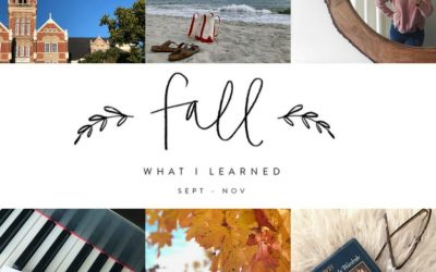 10 Things I Learned This Fall