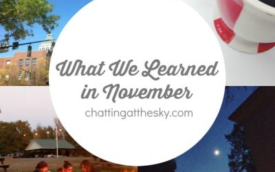 Let's Share What We Learned in November