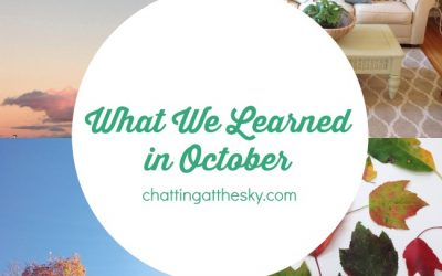 Let's Share What We Learned in October