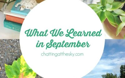 Let's Share What We Learned in September