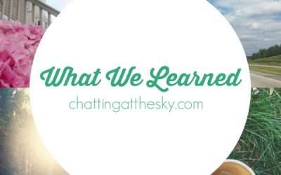 Let's Share What We Learned in August