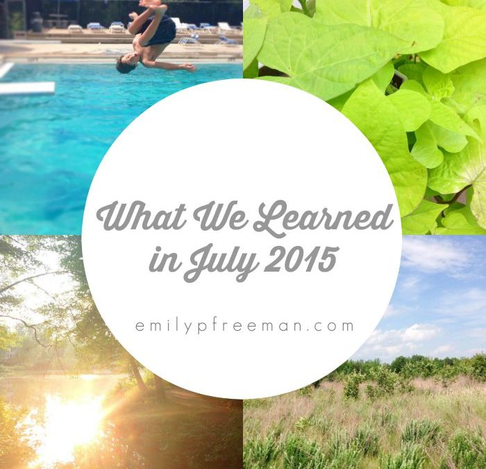 Let's Share What We Learned in July
