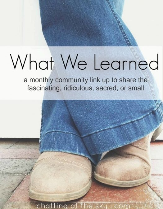 Let's Share What We Learned in April